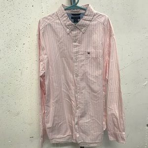 TOMMY HILFIGER White/Pink Cotton Shirt - Sz 16/18